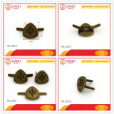 Small Antibrass Metal Logo Badge for Bag Shoes Hat Parts