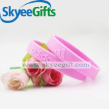 Fashionable Embossed Wristbands Silicone Bracelets for Gift