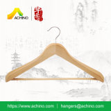 Natural Wooden Suit Hangers with Bar