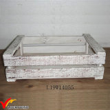 Small Rustic White Fir Wood Planter Boxes