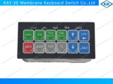 Long Life Tested Flat Type Membrane Switch with Aluminum Panel