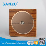 New Design Top Sale TV Wood Switch and Socket