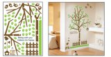 Green Tree PVC Wall Sticker for Children Room Decoration