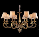 2015 Zinc Alloy Chandelier Lamp with Fabric Shade (SL2166-8)