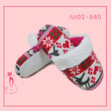 Ladies New Knit Soft Fashion Plush Indoor Slippers