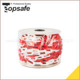 Red White Color Plastic Safety Warning Chain