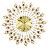 Luxury Peacock Wall Clock Beautiful Metal Unique Wall Mounted Clock