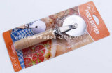 Winolaz Pizza Cutter Wood Handle Cake Knife Stainless Pizza Wheel
