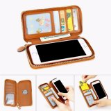 Universal Smart Phone Wallet Style Leather Case with Magnet