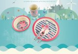 BSCI Audit BPA Free Bamboo Fiber Kids Dinnerware Set