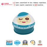 Metal Triangle Empty Tin Can with Lovely Doll (T001-V4)