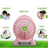 Portable Lithium Battery Fan 4-Inch Vanes 3 Speeds Rechargeable Desktop Fan