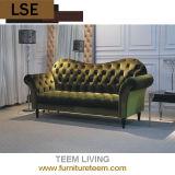 Royal Hotel Furniture Lobby Leather 3 Seat Sofa Set
