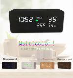 [Ganxin] Quality Testing Wood Frame Clock Alarm LED Digital Clock