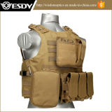 Tan Color Tactical Molle Vest with Hydration Water Reservoir