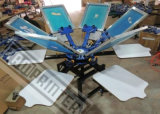 Manual Rotary 6-Color T-Shirt Screen Printing Machine (TM-R6)