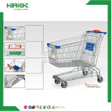 Chrome Plated Surface Handling Shopping Supermarket Trolley
