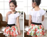Personalized Floral Two-Piece Short Dress for Girls