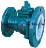 PFA Lined Discharge Ball Valve