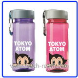 Travel Plastic Water Bottle with Carabine (R-1018)