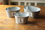 Metal Craft Galvanized Pot for Desk Decor