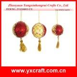 Christmas Decoration (ZY11S368-D-Z-X) Christmas Decoration Plastic Ball