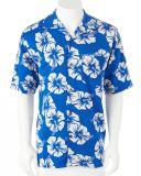 Cotton Print Mens Beach Wear Hawaiian Shirt