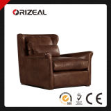 Orizeal English Wingback Genuine Leather Chair (OZ-LS-2012)