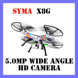 New Version Drone Syma X8g 2.4G 4CH 6 Axis Venture 5MP Wide Angle Camera Quadcopter RTF RC Helicopter (X8G)
