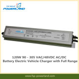 120W 90 - 305 VAC/48VDC AC/DC Electric Vehicle Battery Charger with Full Range