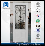 22*48 Tempered Wrought Iron Glass Steel Door