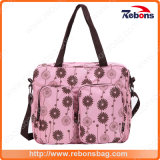 Latest Baby Diaper Bag Mummy Bag with Flower Pattern