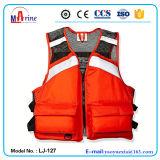 Orange Color Mesh Upper Fabric Foam Life Vest for Fisherman