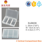 3 Vertical Comparment Clear Plastic Box