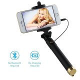 Universal Telescopic Wired Selfie Stick with Rotatable and Extendable Clamp