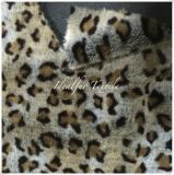Luxury Long Hair Fake Fur with Leopard Point