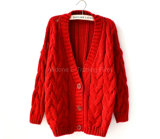 Knitted Ladies Women Hemp Flowers Bat Cardigan Cape Coat Sweater