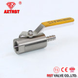 1PC Round Bar Ball Valve with One Side Hose Nipple