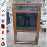 Wood Color Impact Resistant Tempered Glass Hung Window