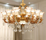 Zinc Alloy and Coating -Finish Crystal Chandelier Light