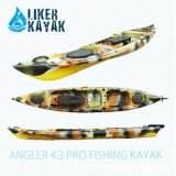 4.3m Single PE Rotomould Kayak Fishing Tackle Angler 4.3 PRO Fishing Kayak