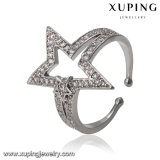 14492 Fashion Jewelry Platinum Open Ring in Five Point Stars Design