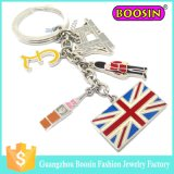 Factory Custom Country Flag Shape Keychain for Wholesale
