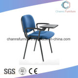Traditinal Design Useful Armrest Blue Fabric Student Furniture Training Chair