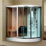 Satin Al Profile Steam Sauna Wet Room with Massage Jets (K9707)