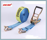 colorful Polyester Belt Ratchet Strap with Locking Buckle