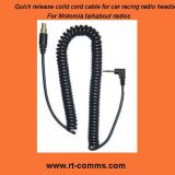 Coiled Quick Disconnect Cable for Motorola Talkabout Radios
