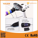 120dB Electric Horn Outdoor Alarm Speaker USB Rechargeable LED Bicycle Front Light
