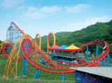 Four-Carriage Roller Coaster for Amusement Park Outdoor Playground Equipment