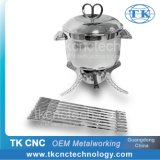 Stainless Steel Cheese Hotpot Set with 6-PC Forks for Table Serving by Stamping, Pressing, Punching, Laser Welding